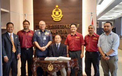 Courtesy call to YAS Dato' Mohamad Hamdan bin Hj. Wahid, Director General of Fire and Rescue Department Malaysia