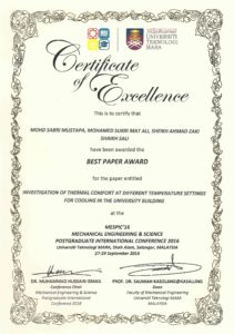 Best Paper Award MESPIC 2016