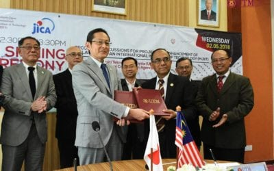 Signing ceremony Records of Discussions between UTM and JICA