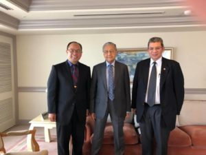 Dean Prof. Ali Selamat Courtesy visit to Prime Minister Tun Mahathir of MJIIT UTM and the way forward on Look East Policy