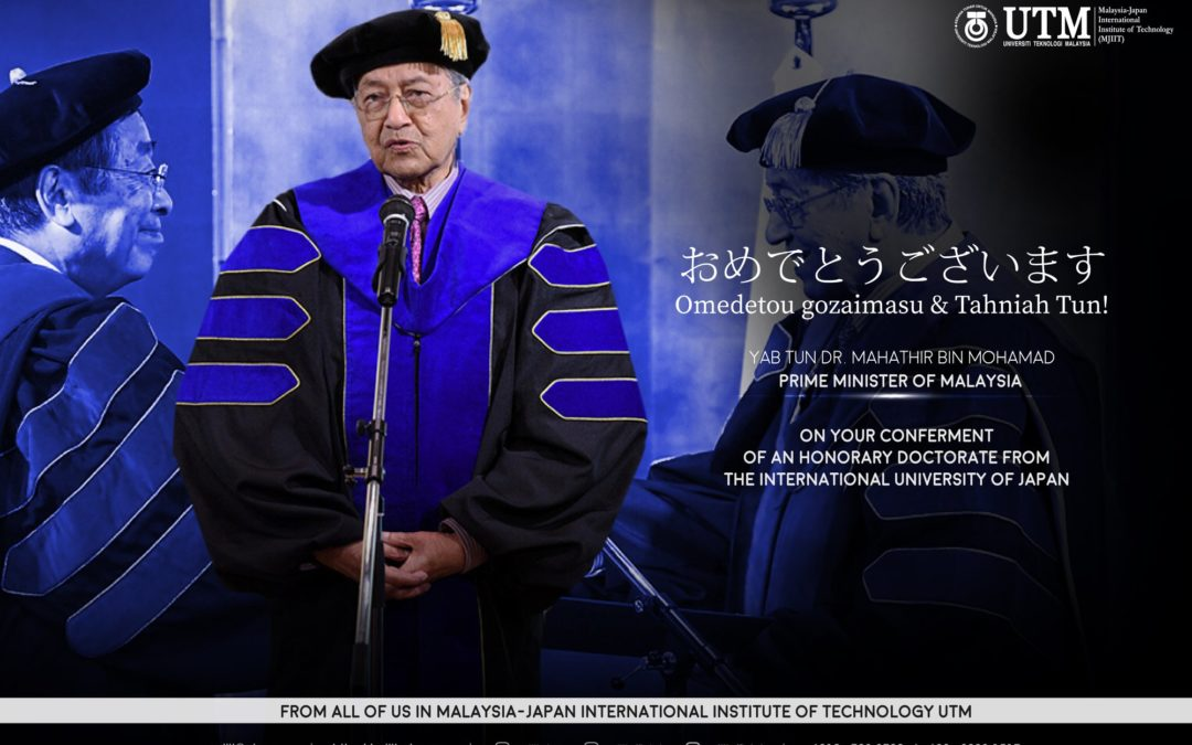 YAB Tun Dr. Mahathir conferred the Honorary Doctorate of Philosophy by the International University of Japan (IUJ).
